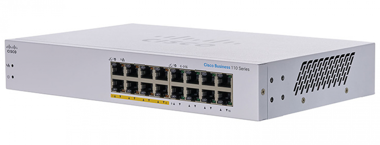 CBS110-16PP-EU - CBS110 Unmanaged 16-port GE, Partial PoE with 64W power budget