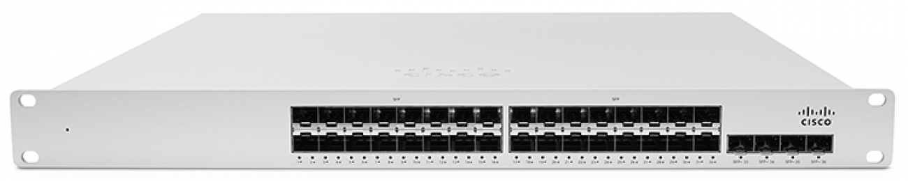 Cisco Meraki MS410-32 Cloud-managed 32 port 1 Gigabit Ethernet aggregation switch with 10 GbE uplinks and physical stackin