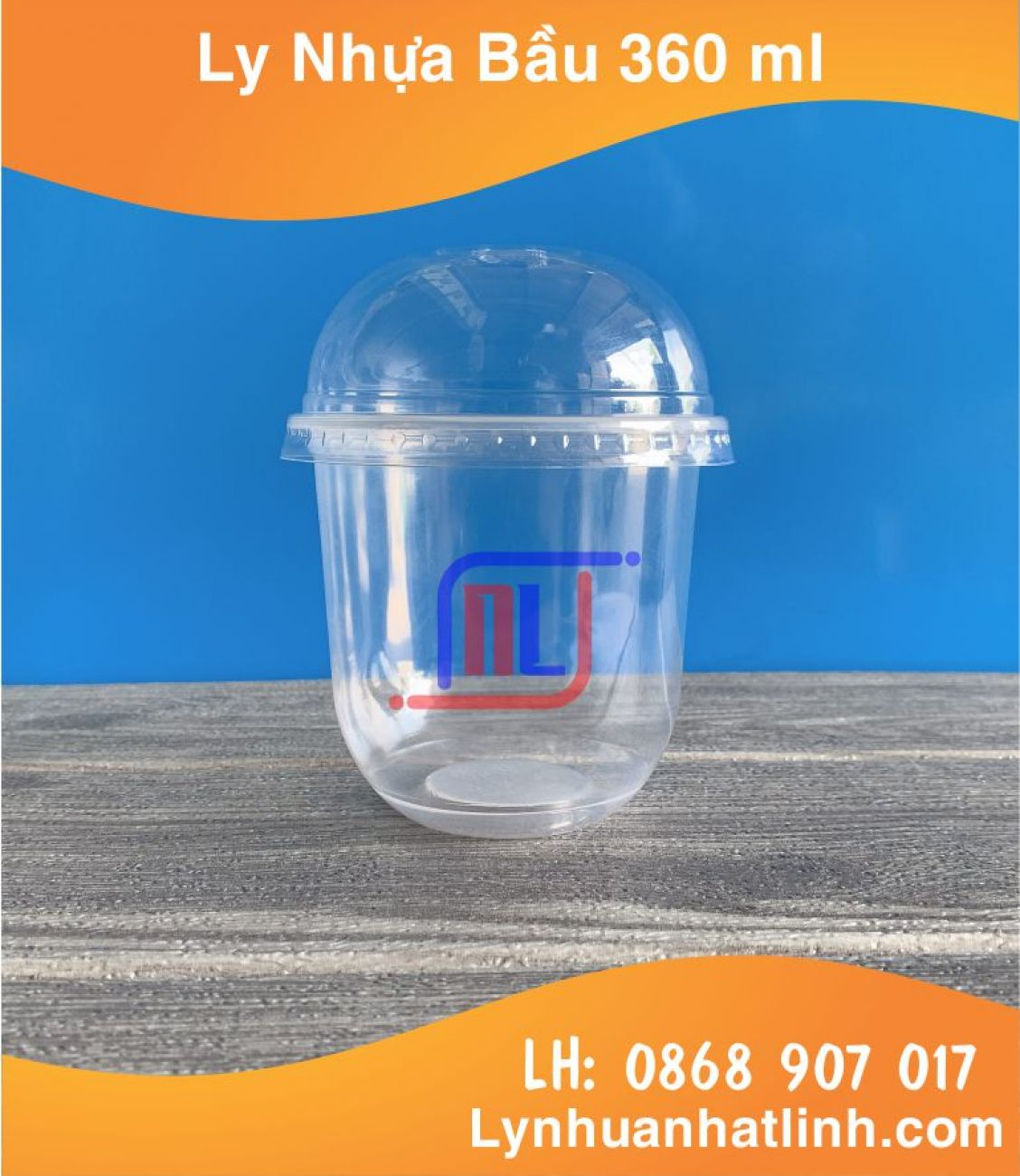 Ly Nhựa Đáy Bầu 360 ml ( Q360 ml - Nhựa PP )
