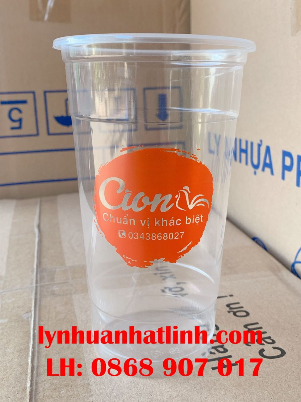 Ly Nhựa PP 700ml in logo