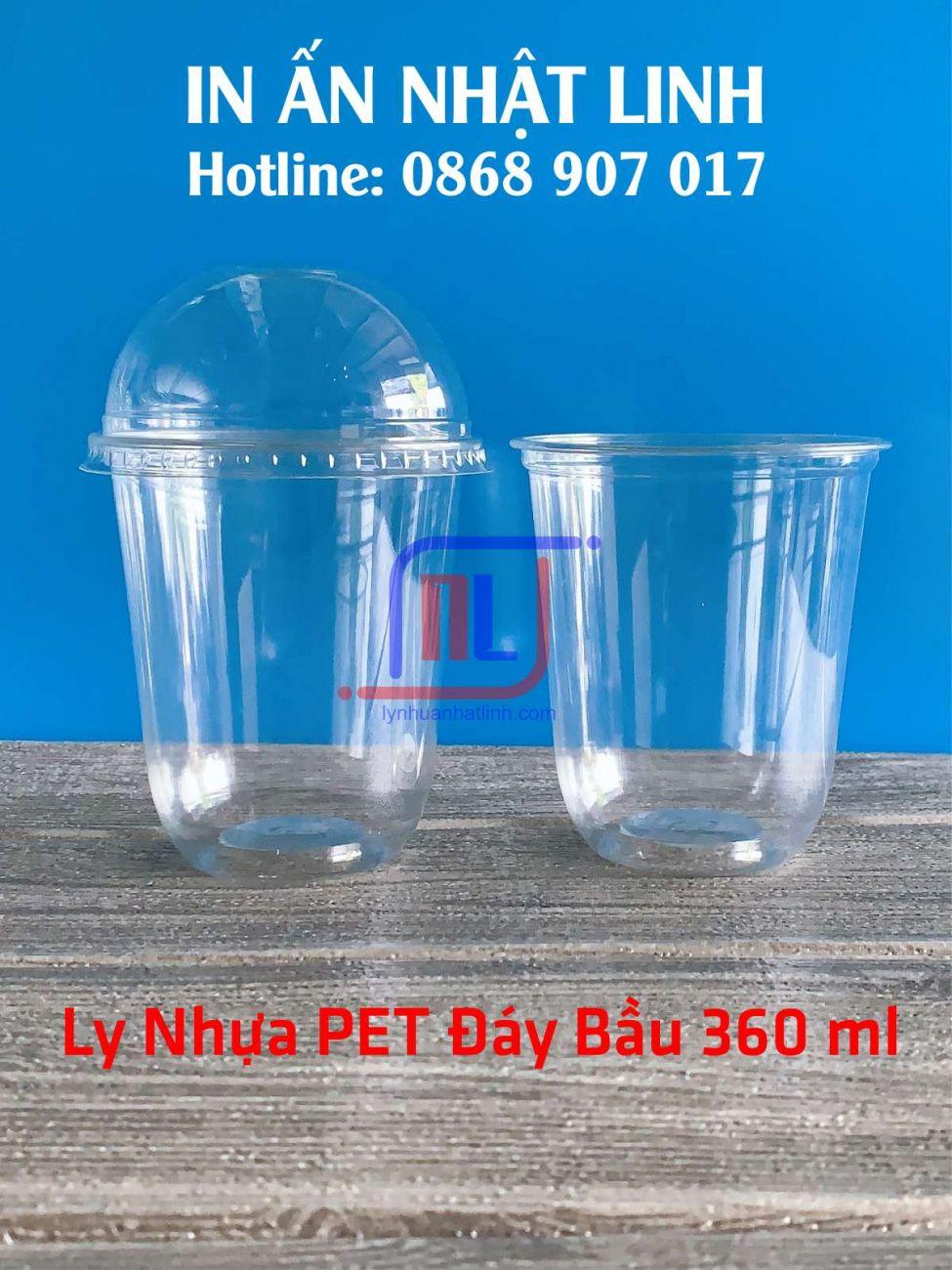 Ly Đáy Bầu 360ml ( Q360 ml - Nhựa PET )