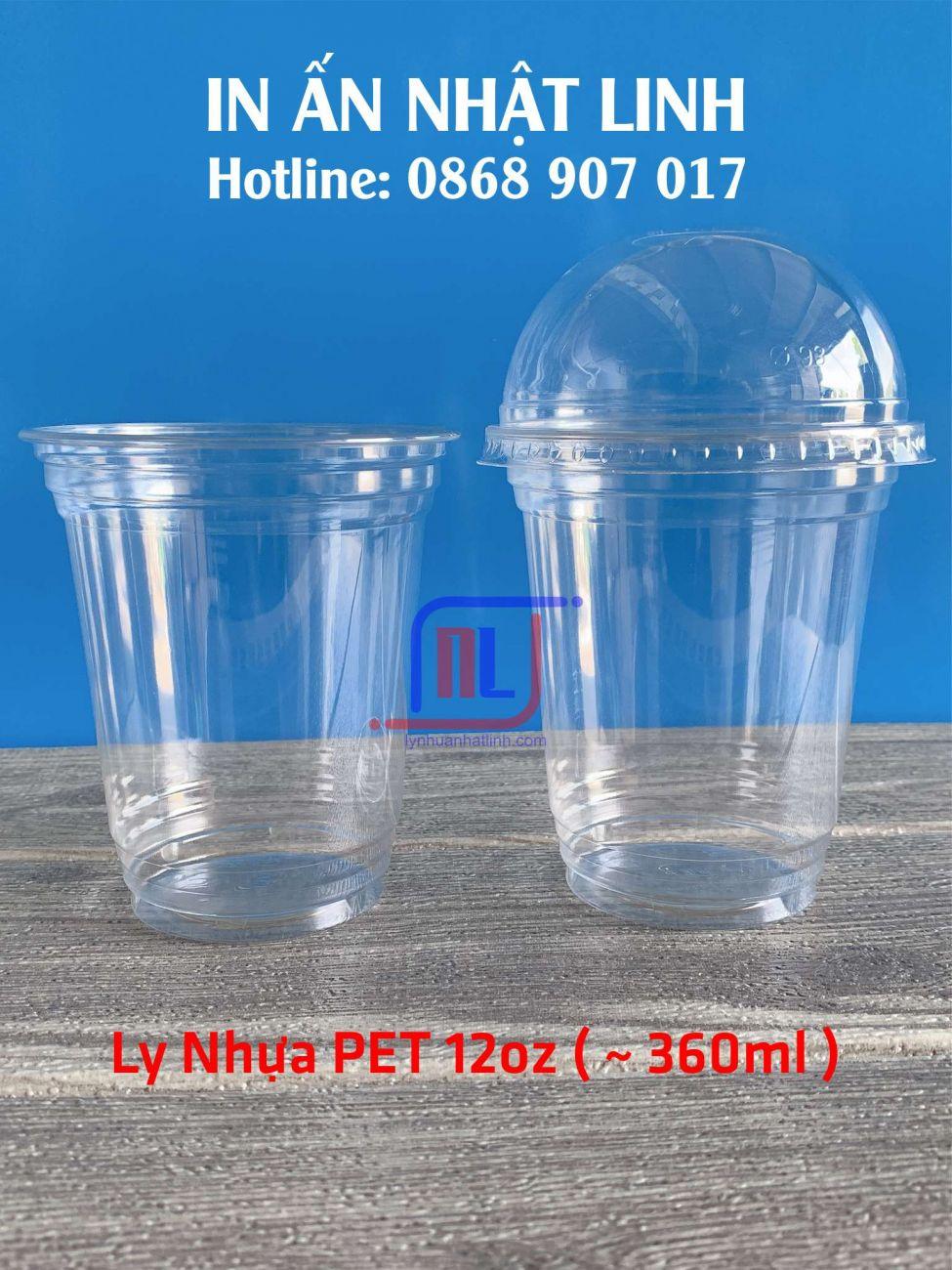 Ly nhựa PET 360ml ( 12oz ~ Ø93 )