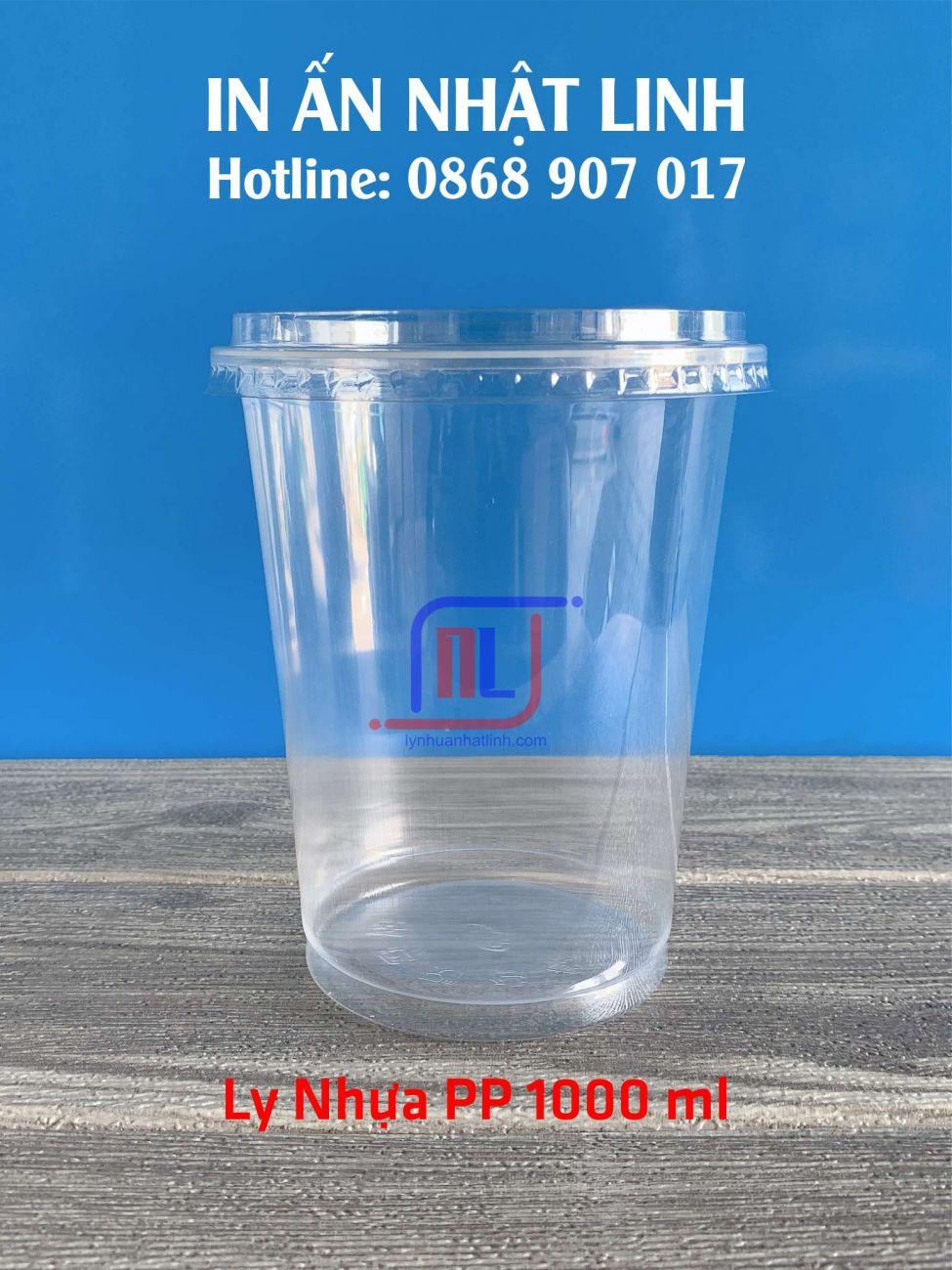 Ly Nhựa PP 1.000ml ( 1 Lít đủ )
