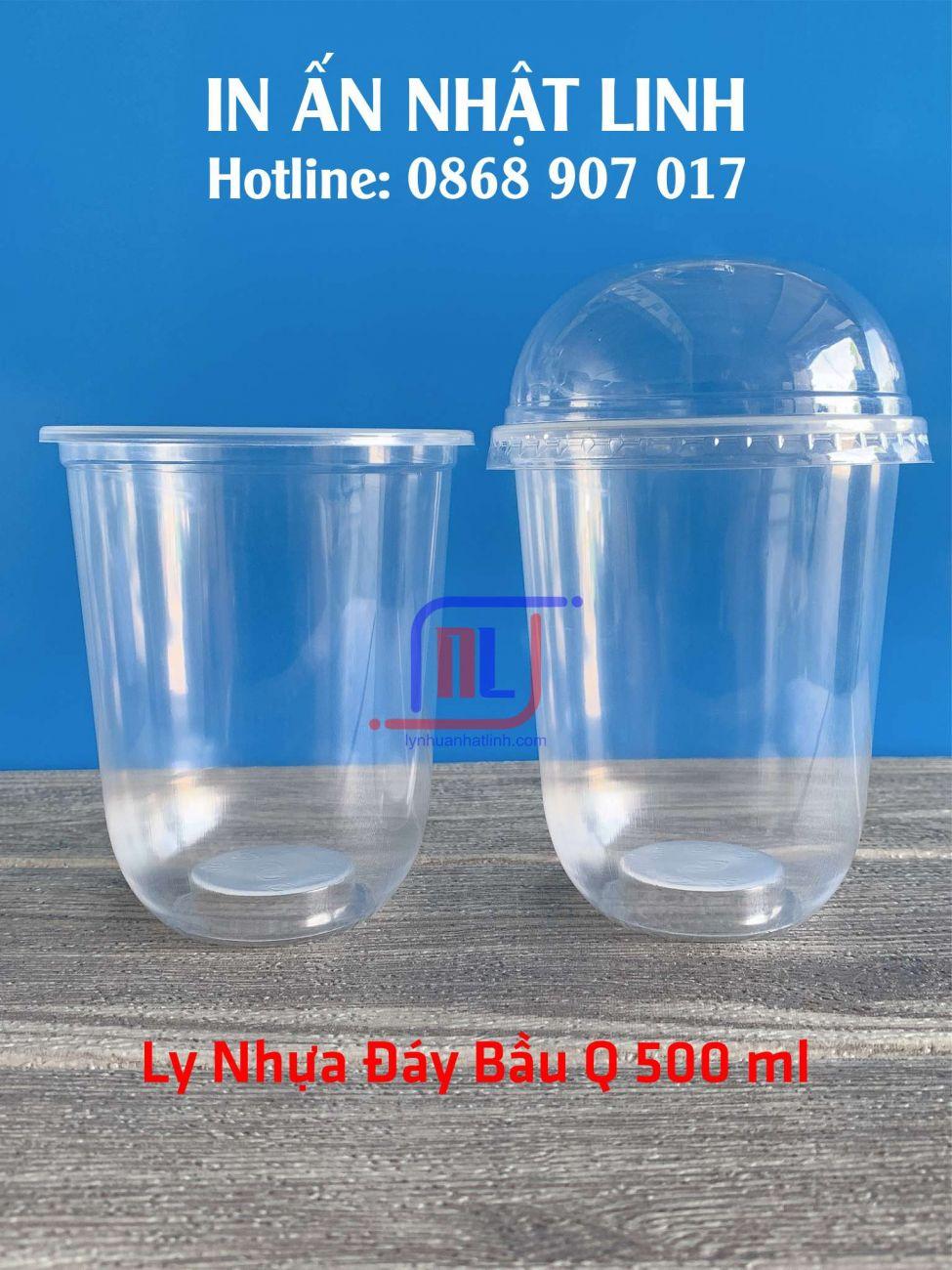 ly nhựa đáy bầu 500 ml