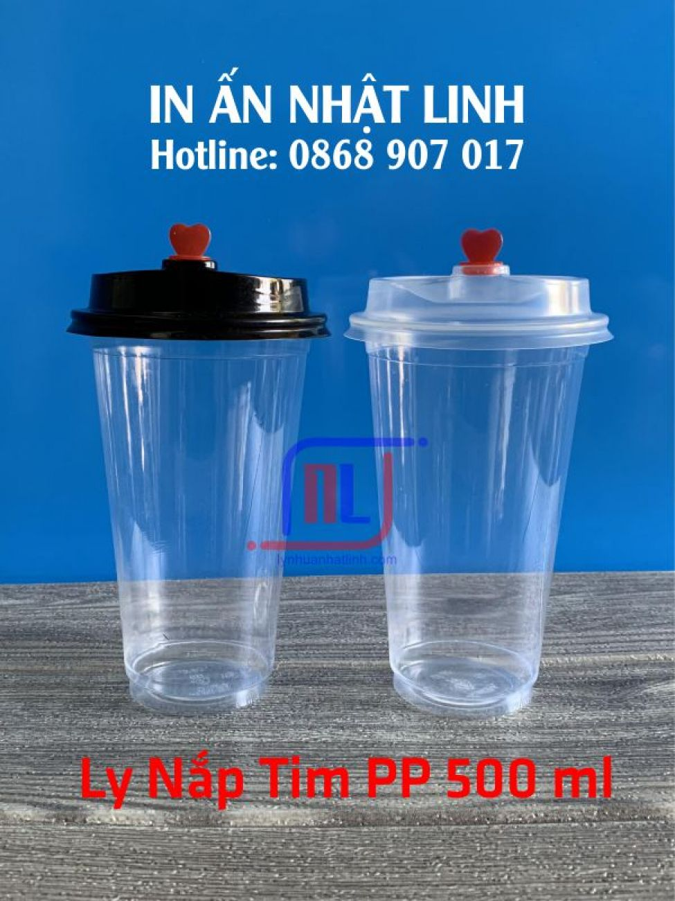 Ly Nắp Tim PP 500ml