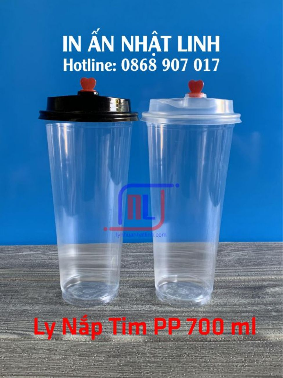 Ly Nắp Tim PP 700ml