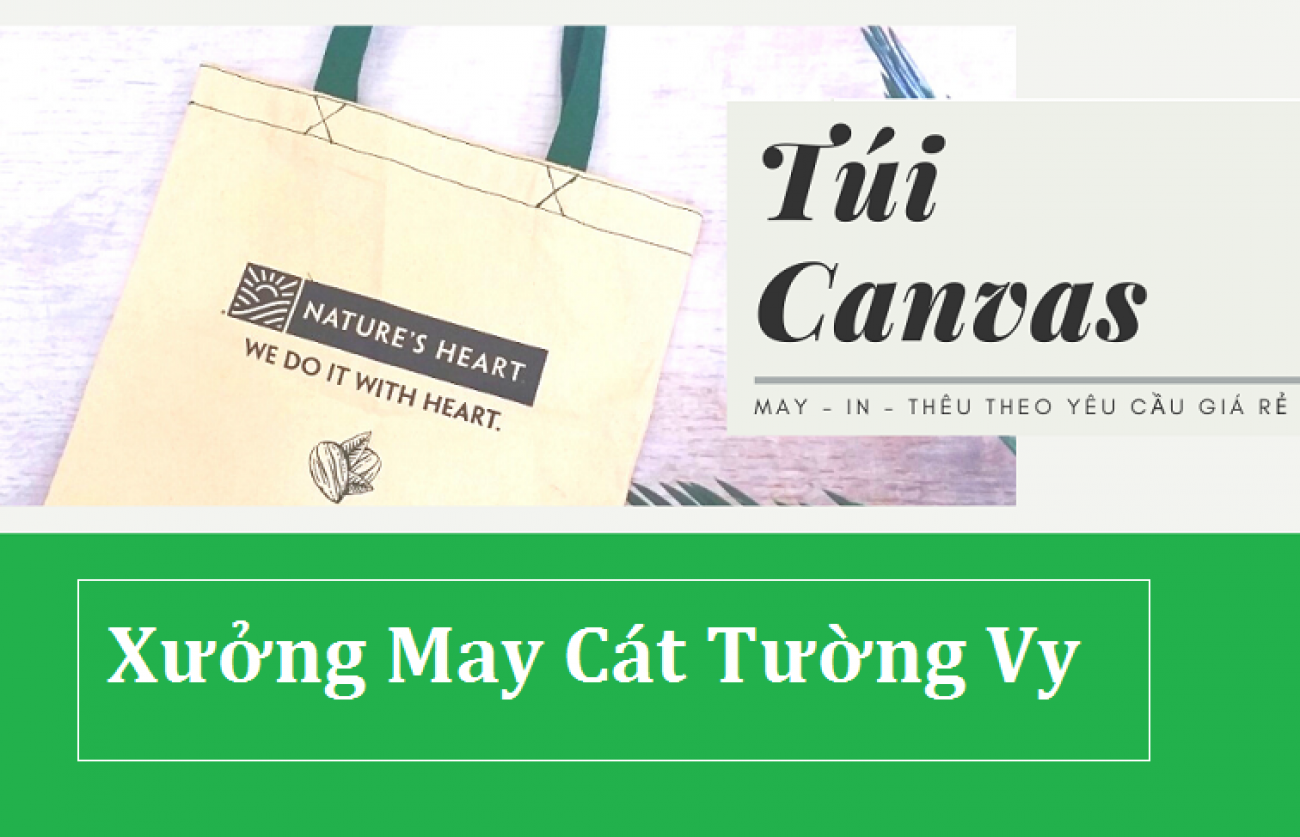 Xưởng may túi canvas, túi vải không dệt giá rẻ Tp Hồ Chí Minh