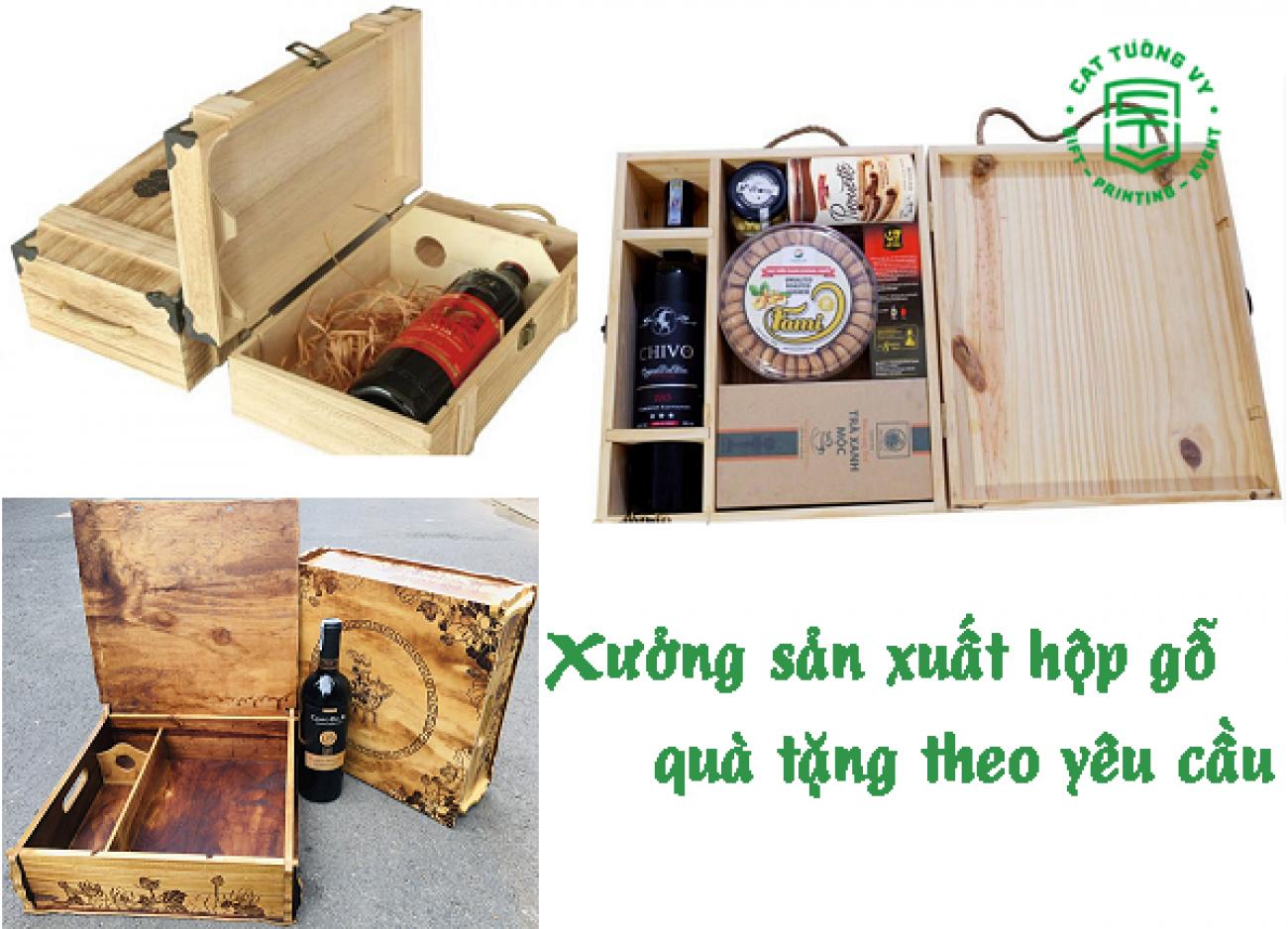 Xưởng sản xuất hộp gỗ qùa tặng theo yêu cầu