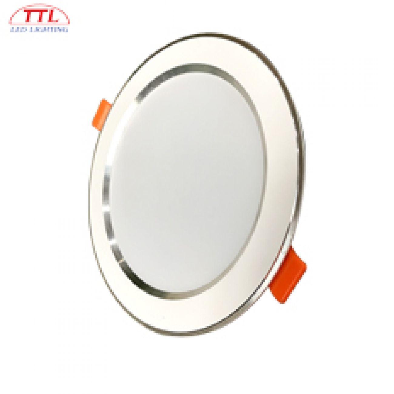Đèn LED âm trần Downlight 7W viền Bạc
