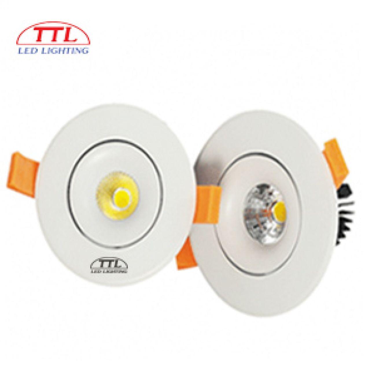 Đèn LED âm trần chỉnh hướng 12W 3000K/4000K/6000K