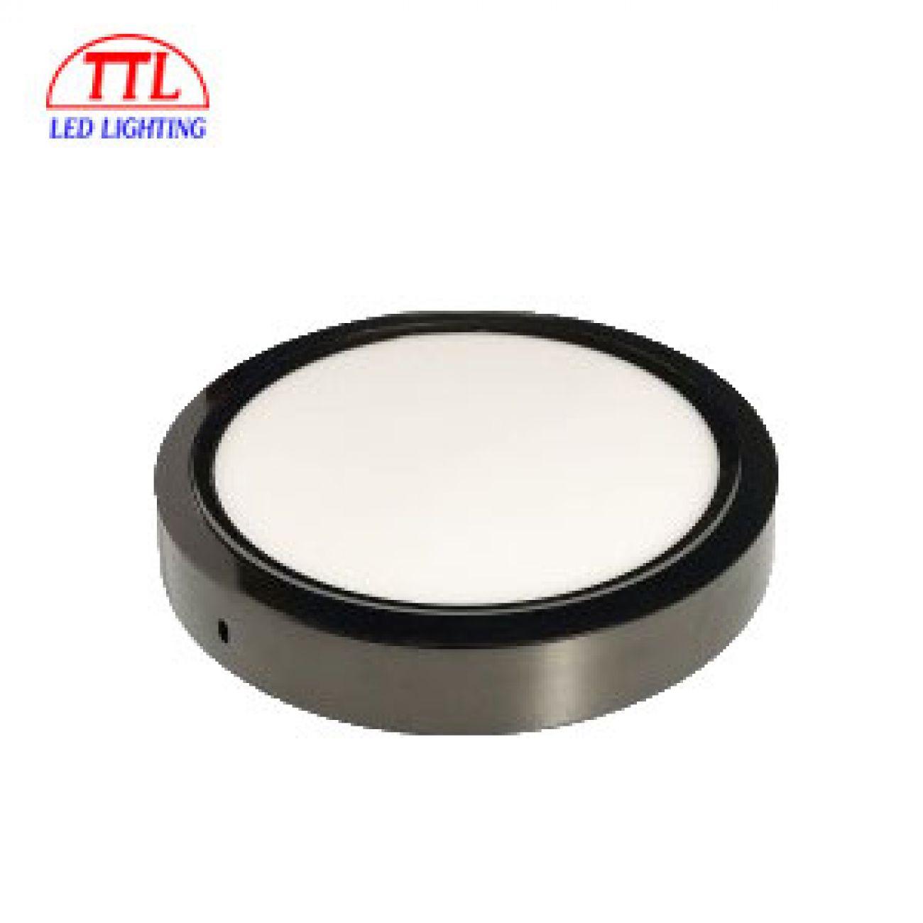 Đèn LED ốp trần tròn đen 18W