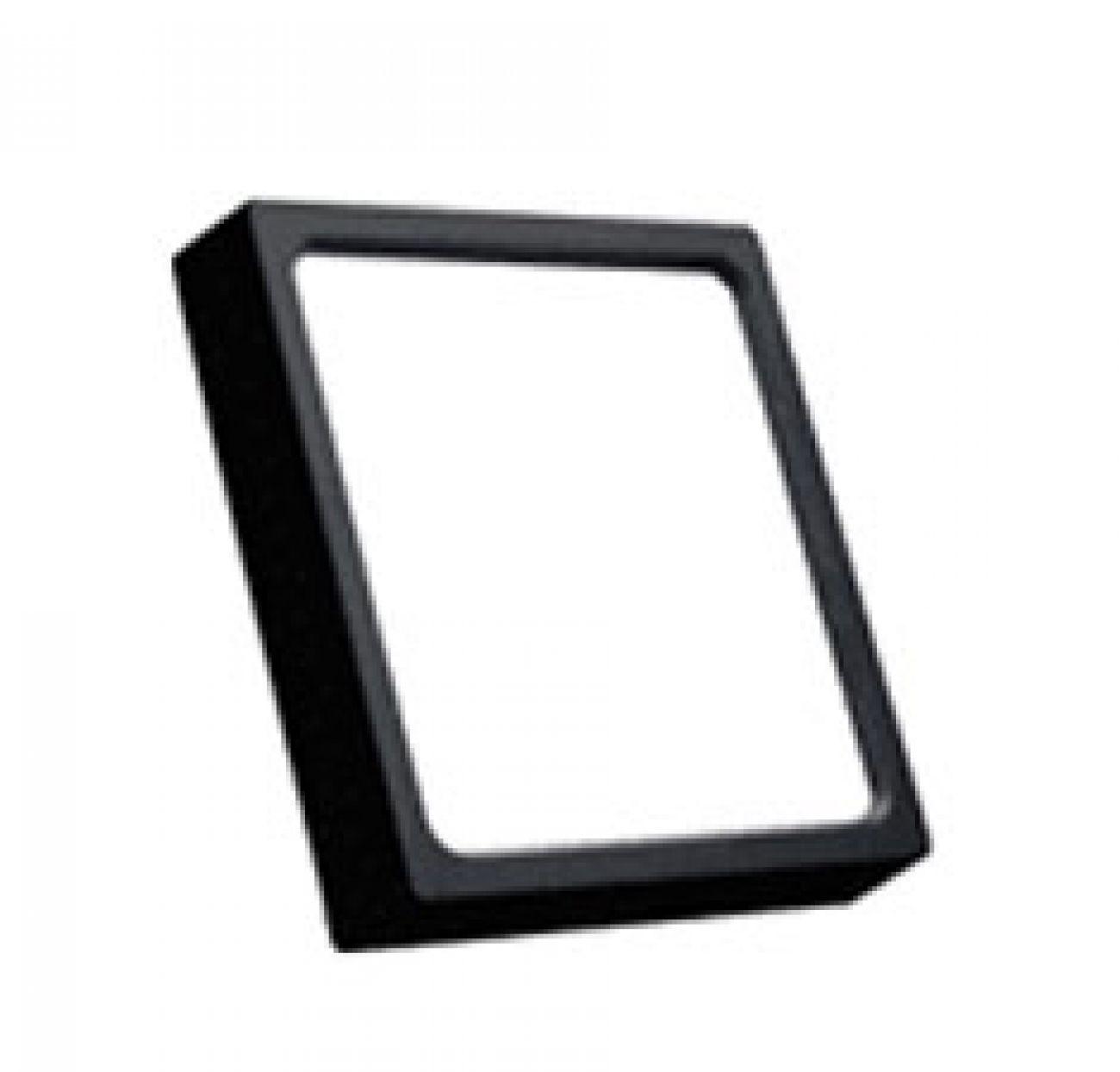 Đèn LED ốp trần vuông đen 18W